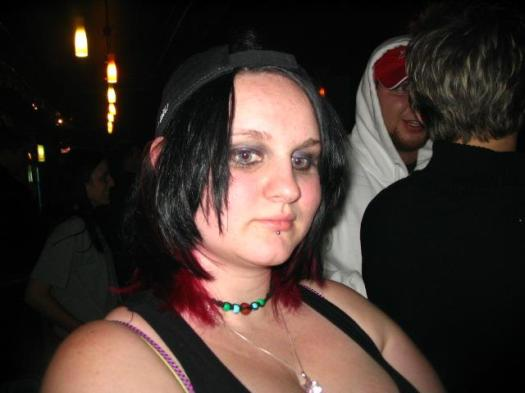 MH with pink hair and piercings...and fat. I'm 70lbs lighter now.