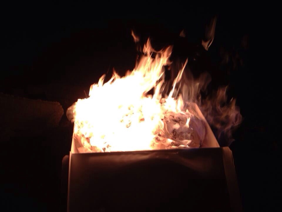 So, I decided to celebrate. By torching my wedding dress.