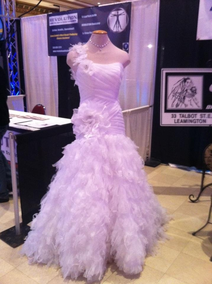 A photo from the wedding show...this is right before I texted people asking for help