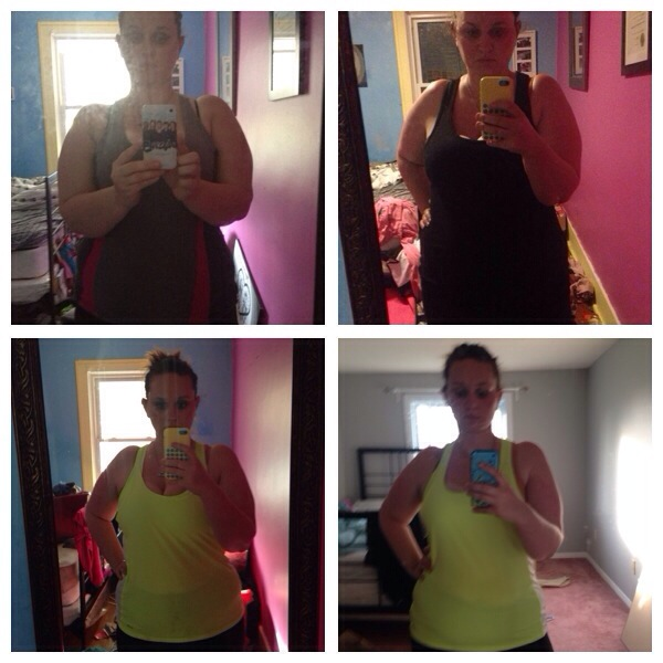 A little progression pic. See my 40lbs loss...and my various phones.