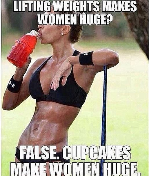 This just cracks me up...and will help me kick cupcakes.