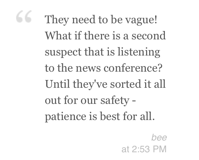 Actual quote from cbc.ca's live blog. This MAY have been what started my rant